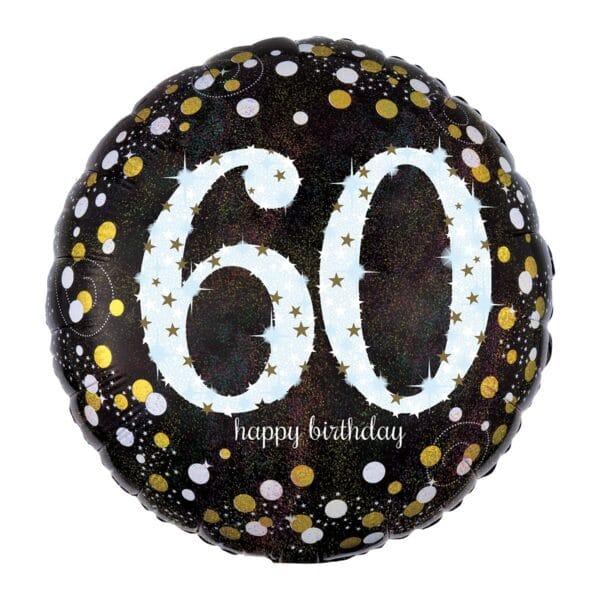 GLOBO 60  HAPPY BIRTHDAY